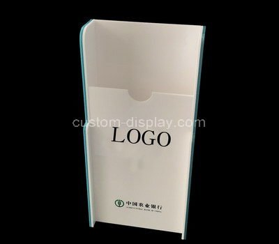 white acrylic pamphlet holder