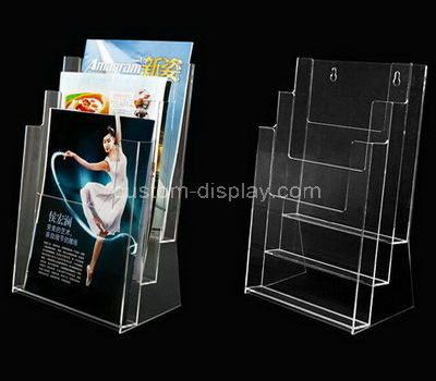 clear acrylic leaflet holder wall mounted