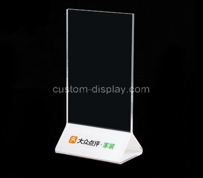 double sided acrylic sign holder