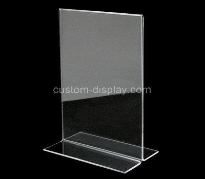l shape acrylic sign holder