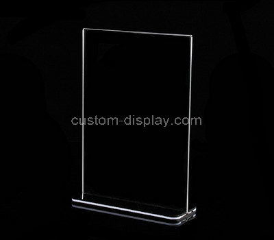 vertical double sided stand up acrylic sign holder