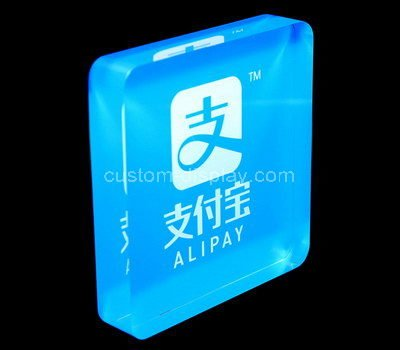 acrylic block sign holder
