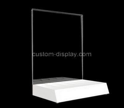 table top plexiglass sign holder