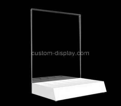 table top plexiglass sign holder