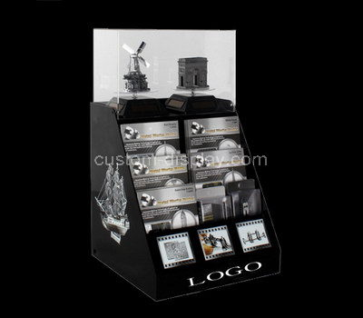 lucite shop counter display stand