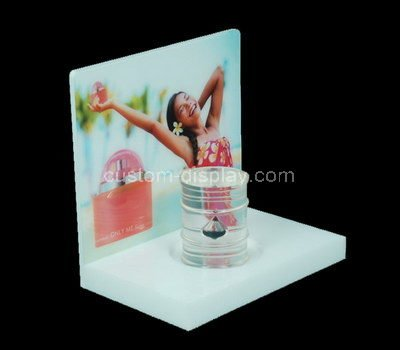 lucite free standing retail display
