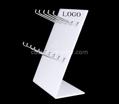 perspex display rack for hanging items