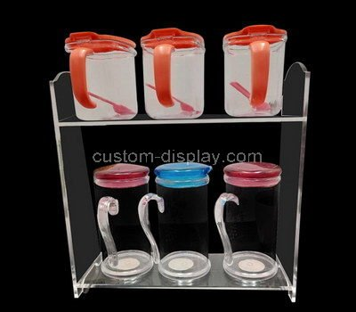 lucite product rack display