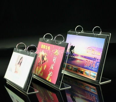 acrylic desk calendar with stand