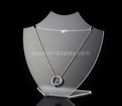 acrylic necklace bust display stand