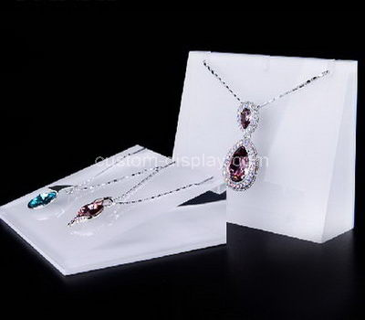 lucite jewelry necklace display