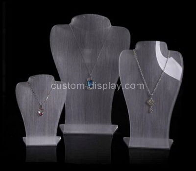 lucite necklace bust display stand