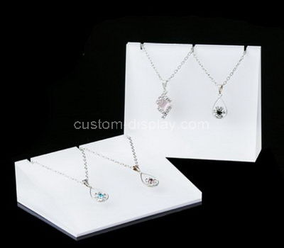 acrylic white necklace display stand