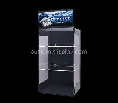 acrylic black display cabinet
