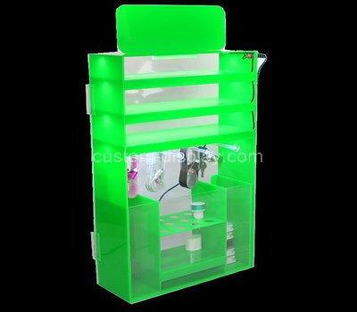 lucite small corner display cabinet