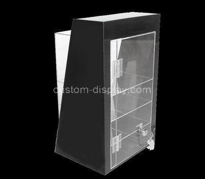 plexiglass lockable display cabinet