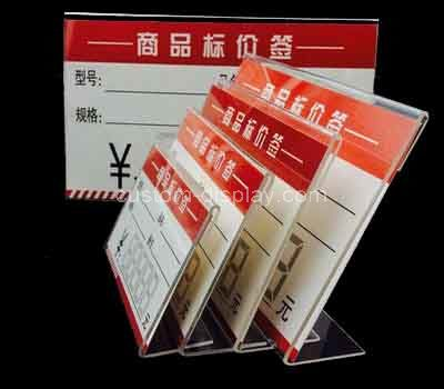 clear plastic price tag holder