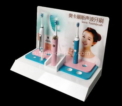 acrylic toothbrush display stand