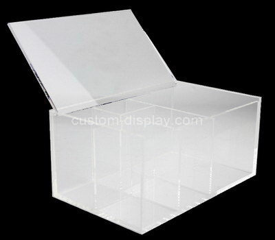 acrylic divided compartment box