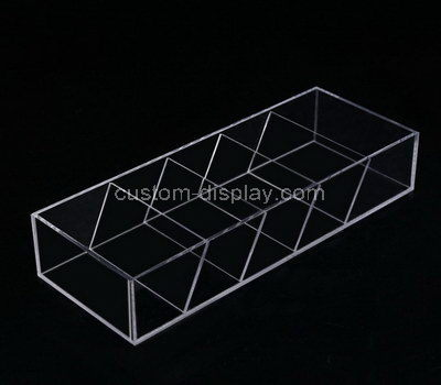 acrylic compartment box with dividers