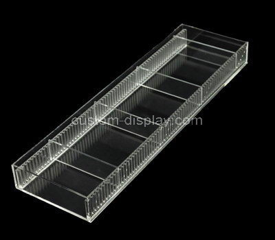 acrylic compartment organiser box