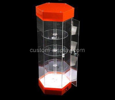 perspex small corner display cabinet