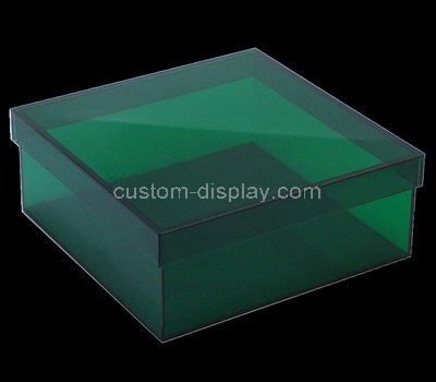 green acrylic boxes with lids