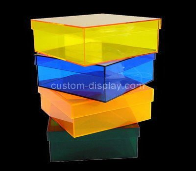 acrylic storage boxes with lids