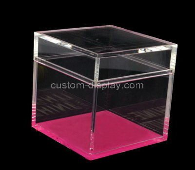 clear small acrylic boxes with lids
