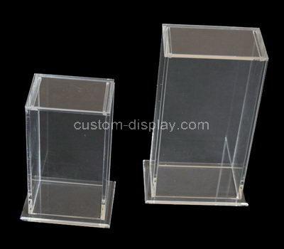 clear plexiglass boxes