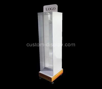 lucite tall display cabinet