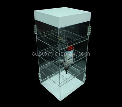 lucite collectors display cabinet