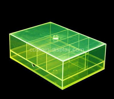 lucite compartment box with dividers