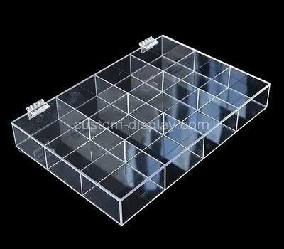 lucite multi compartment box