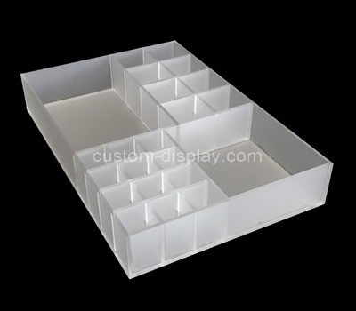 perspex compartment organizer box
