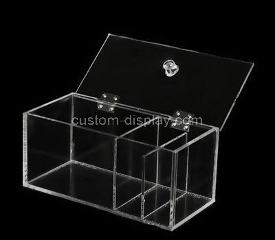 acrylic clear storage boxes with lids