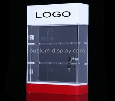 lucite slim display cabinet