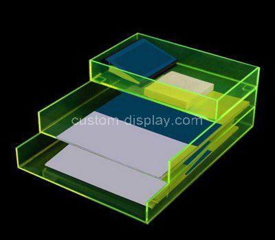 Three tiered acrylic file holder