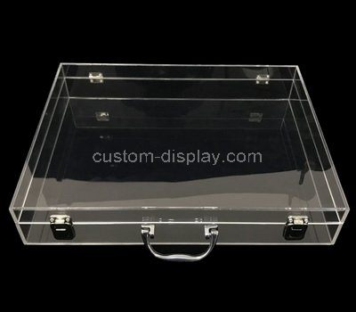 Oblate clear acrylic box with lid