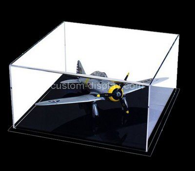 Clear acrylic air plane model display case