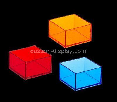 Colorful square small acrylic box