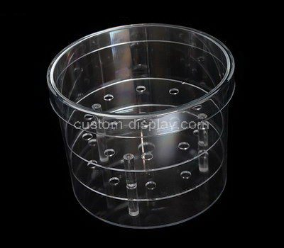 Clear round acrylic flower box with lid