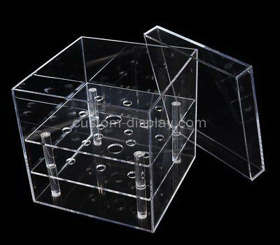 Clear square acrylic flower box with lid
