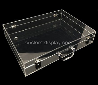 Clear acrylic storage box with lid and handle