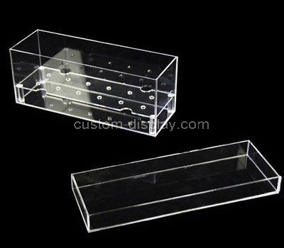 Clear acrylic rectangular flower box with lid
