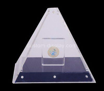 Clear acrylic triangle display case