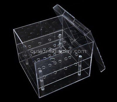Square clear acrylic flower box with lid