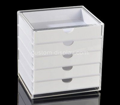 5 drawers white acrylic storage box