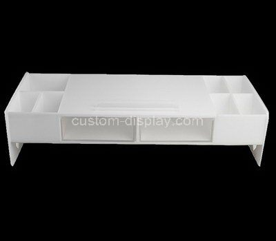 2 acrylic drawers with 7 grids storage box