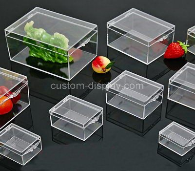 Clear acrylic storage box with lid